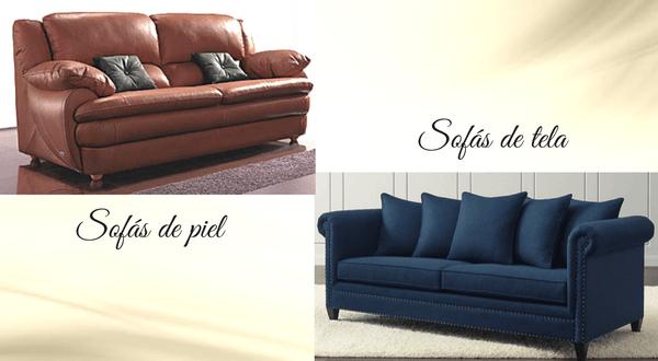 sofas de tela o de piel
