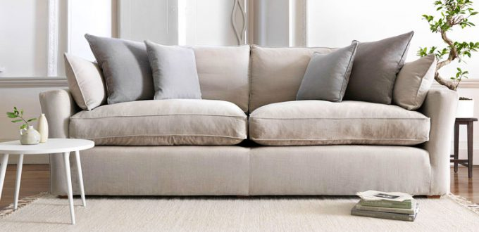 sofa tapizado en tela